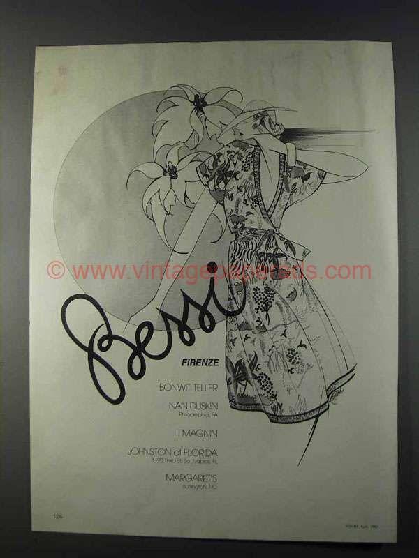 1980 Bessi Firenze Fashion Ad