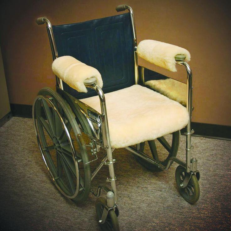 "EA/1 - Sofsheep Sheepskin Wheelchair Seat Pad, Standard Adult, 18"" x 16"", Beige"