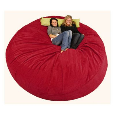 Bay Isle Home Aloa Bean Bag Lounger Size: 8', Upholstery: Corduroy - Burgundy
