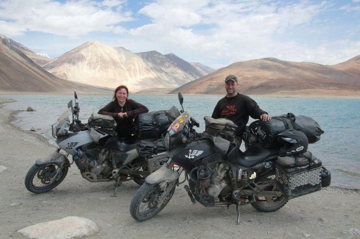 "Simon & Panny, motorcycle vagabonds, permanently ""on the road"" #FYPmovement #Worldtravel #motorbike #travel  http://followyourpassion.com.au/fyp/krad-vagabunden/"