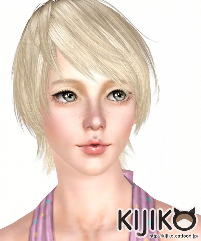 Onion Princess Af Japanese Bob Tail by Kijiko - Sims 3 Downloads CC Caboodle