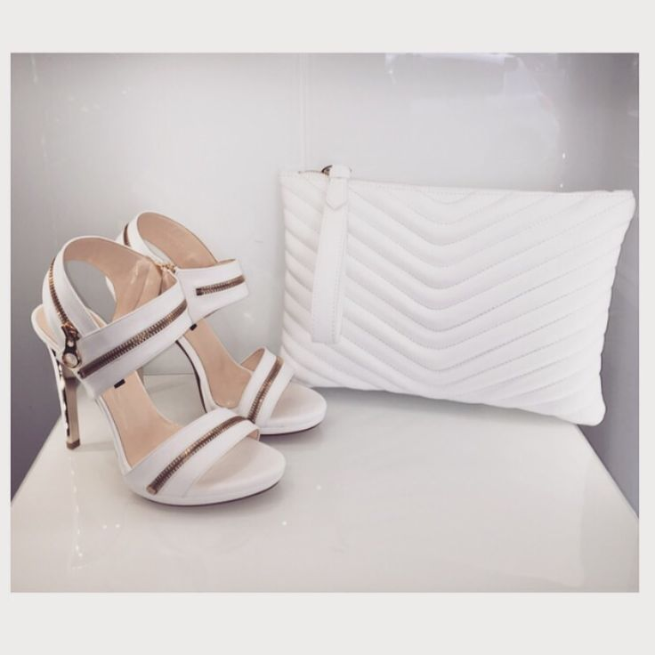 Albano shoes and bags! White as purity!!