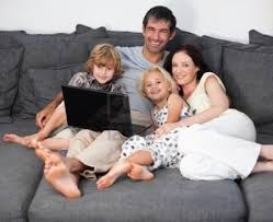 Parents enjoying time with children
