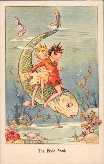 Postcard by Rene Cloke, published by C.W. Faulkner