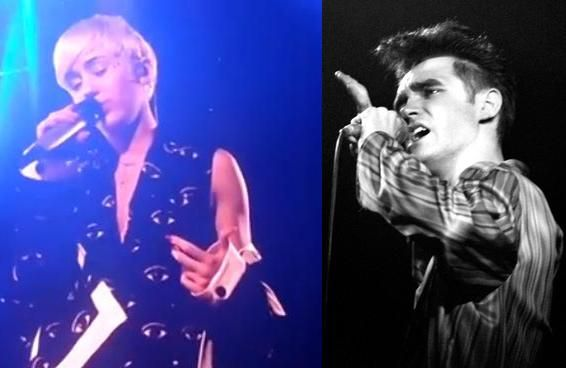 Miley Cyrus covers The Smiths' 'There Is A Light That Never Goes Out' in concert....sorry #thesmiths