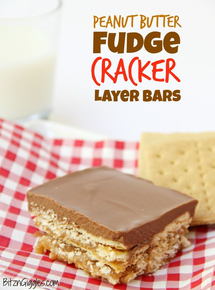 Check out Peanut Butter Fudge Cracker Layer Bars. It's so ...