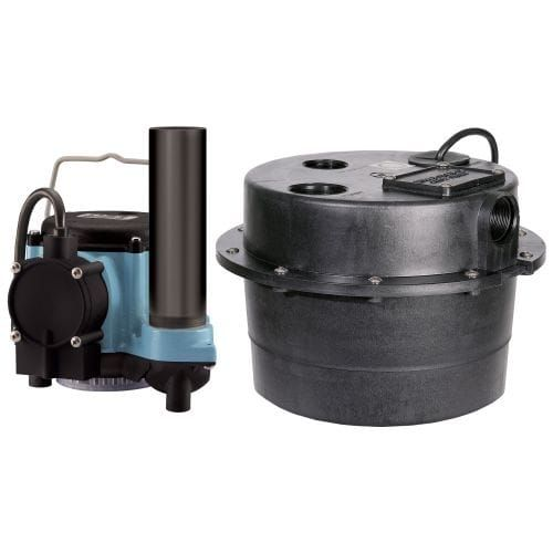 Little Giant 506065 Wrsc-6 Compact Drainosaur 1/3 HP Sink/Drain Pump System with Diaphragm Switch, Blue wash