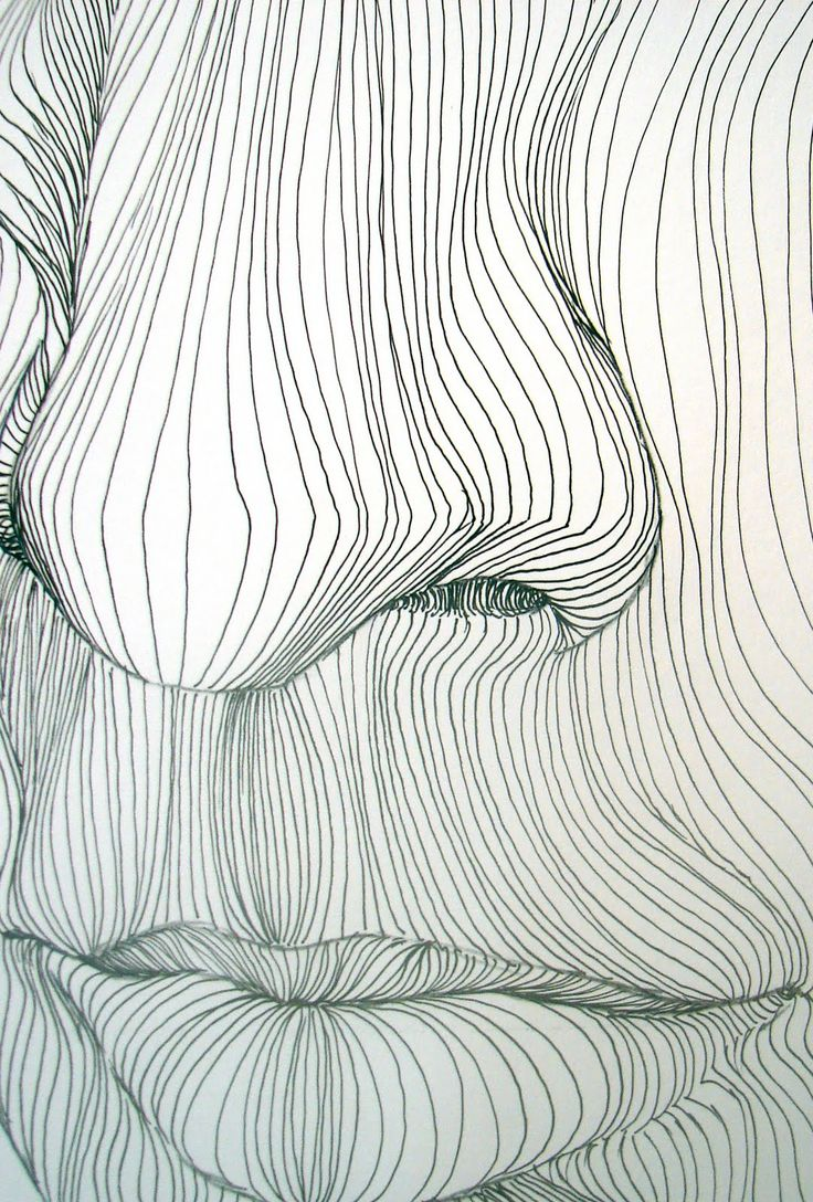How To Contour Line Drawing : Cross contour line drawing pinterest