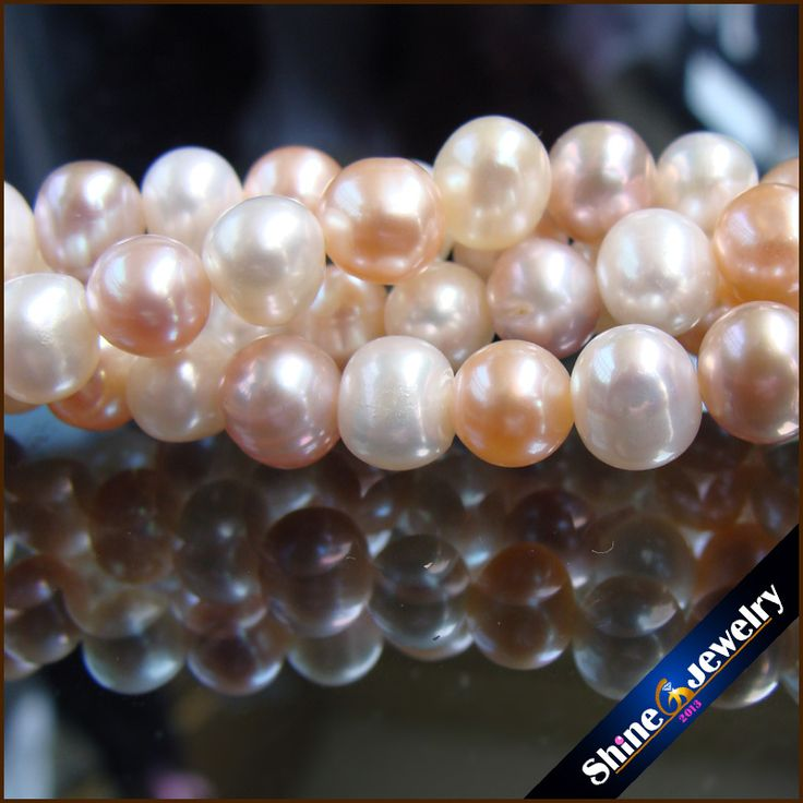 "Find More Beads Information about Wholesale AA+ 6.5~7.5mm Natural multicolor genuine freshwater pearls loose beads strand 15"" Free shipping,High Quality strands jewelry,China strand bracelet Suppliers, Cheap strand meaning from shinejewelry on Aliexpress.com"