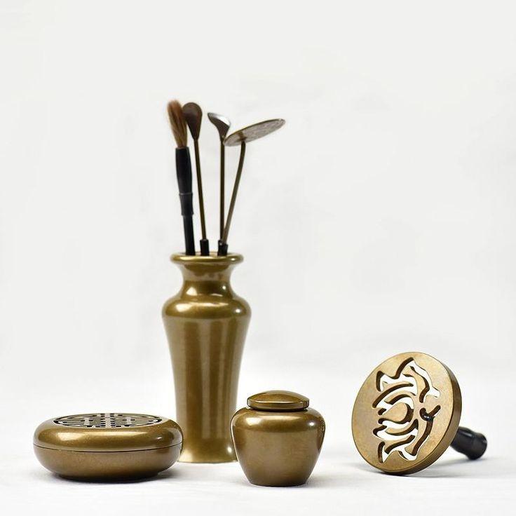 Incense Copper Metal  Burner Set