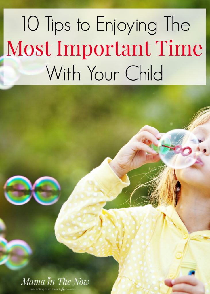 10 tips to enjoying the most important time with your child. Learn to play like a child - again. These parenting tips will help you connect with your child.