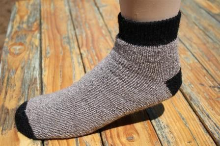 """The new SlipperBootie alpaca socks feature an amazing comfy and snug fit without constriction. Designed to be perfect for cold floors or in shoes, the SlipperBooties will be your favorite at home warm socks! """"SlipperBootie"""" Alpaca socks are perfectly alpaca!."""