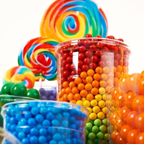9 best images about candy buffet on pinterest rainbow for Food bar rainbow moon