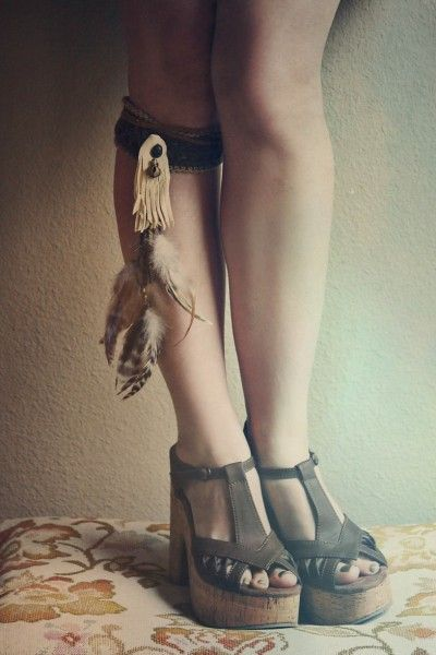 the bohemian collective.  little wing feather band by Run With the Tribe.  wedges by Blowfish Shoes.Blowfish Shoes, Bohemian Daydream, Hippie Bohemian Boho Legs, Hippie'S Bohemian Boho, Bohemian Look, Crafts Inspiration, Bohemian Hippie, Boho Style, Bohemian Collection