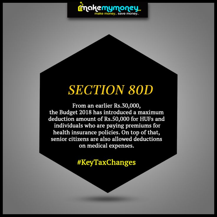 Section 80d The Budget 2018 Has Introduced A Maximum Deduction