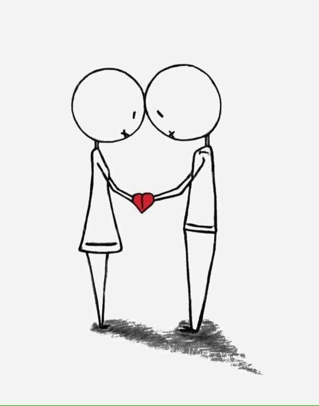 Картинки с человечками маленькими про любовь