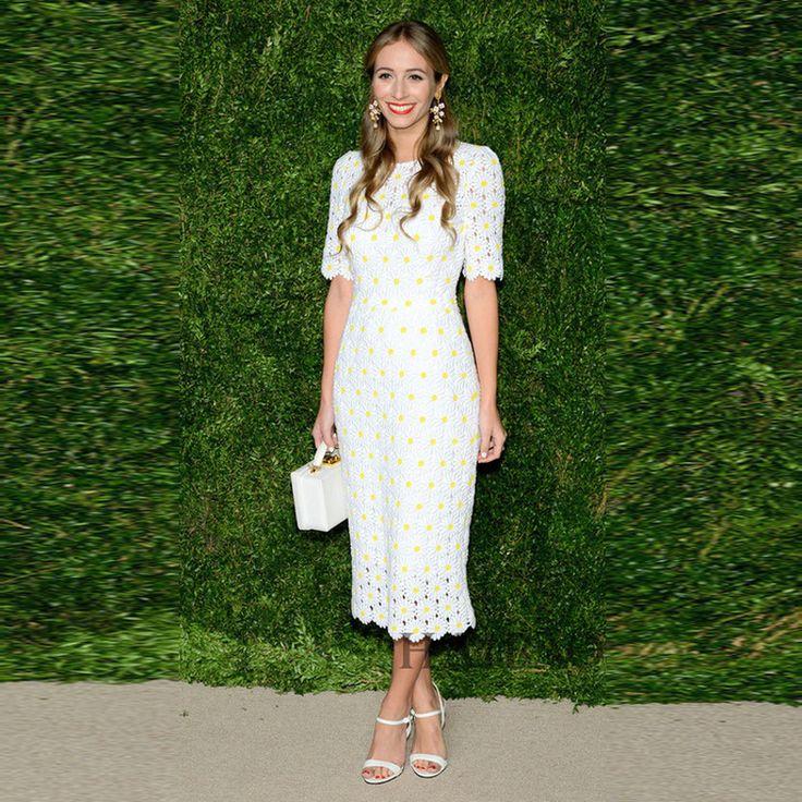... с коротким рукавом желтые хризантемы вышивка белый кружевном платье и  другие товары категории Платья в магазине Top Fashion Wear на AliExpress.  кружев%