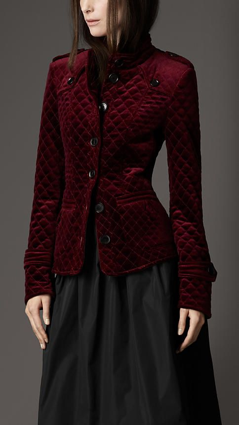 Burberry - MULTI-QUILT VELVET JACKET.  Wonder how expensive it would be to have something like this made?  It would have be less than this one, I'm sure!