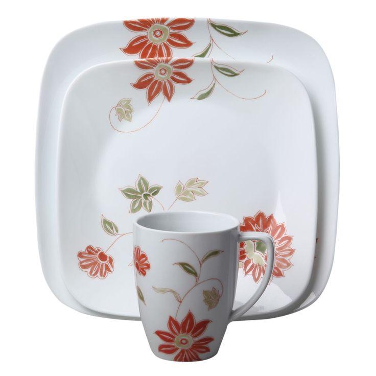 #Corelle® Square™ Matilda 16 Pc Dinnerware Set   Loose, Bohemian Flowers