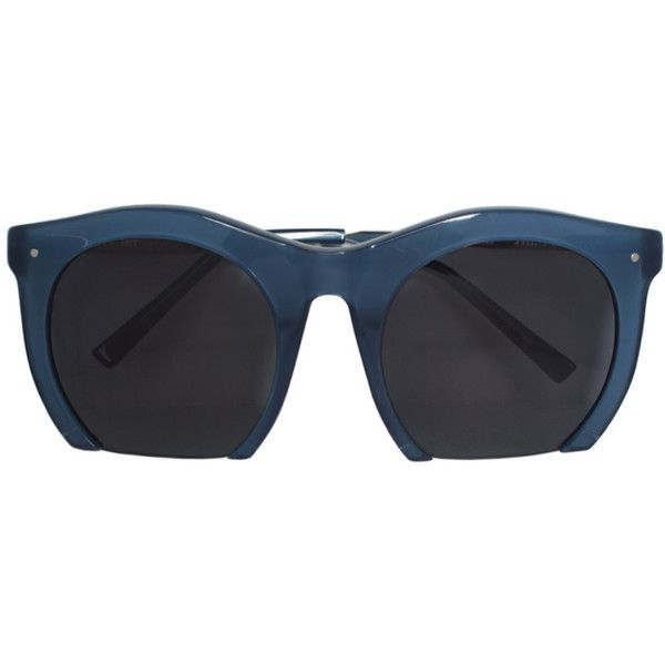 Grey Ant The Foundry sunglasses ($248) ❤ liked on Polyvore featuring accessories, eyewear, sunglasses, blue, grey ant, grey ant eyewear, blue glasses, grey ant glasses and blue sunglasses