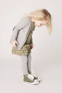 #girl's grey and olive dress ~ cute idea for fall layering Kids