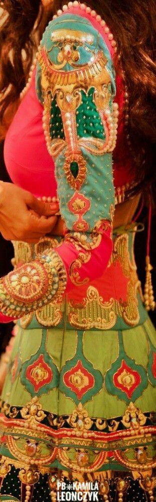 Colourful Mehendi Lehenga by Manish Arora #Wedding Outfits