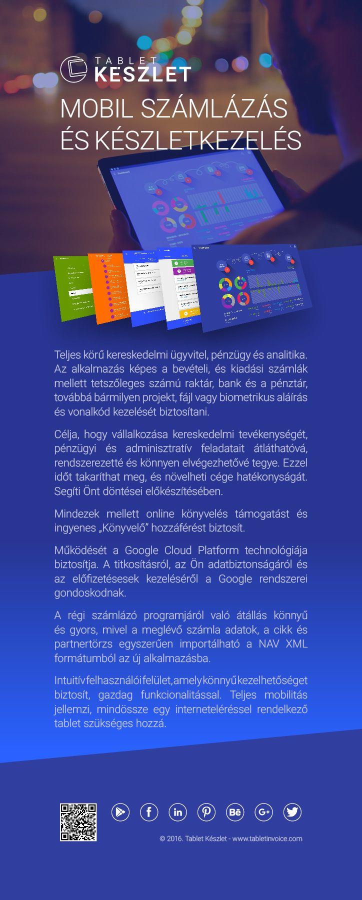 Teljes körű kereskedelmi ügyvitel, pénzügy és analitika. Az alkalmazás képes a bevételi, és kiadási számlák mellett tetszőleges számú raktár, bank és a pénztár, továbbá bármilyen projekt, fájl vagy biometrikus aláírás és vonalkód kezelését biztosítani.  https://play.google.com/store/apps/details?id=com.tabletinvoice.stock&hl=hu