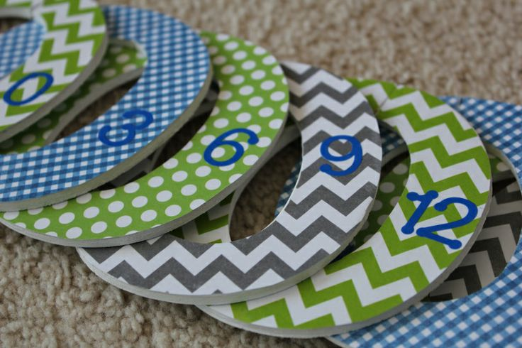 Easy DIY baby closet dividers. So simple!