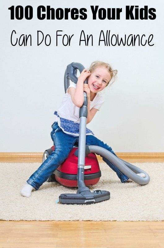100 Chores Your Kids Can Do For An Allowance    #cleaning #cleaningwithkids  http://www.cleanerscambridge.com/