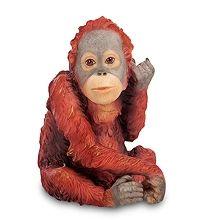 """WS-798 Статуэтка """"Детеныш орангутанга"""" скульптура обезьяна символ года 2016 новогодние подарки на новый год сувениры фигурка обезьянка новогодняя купить"""
