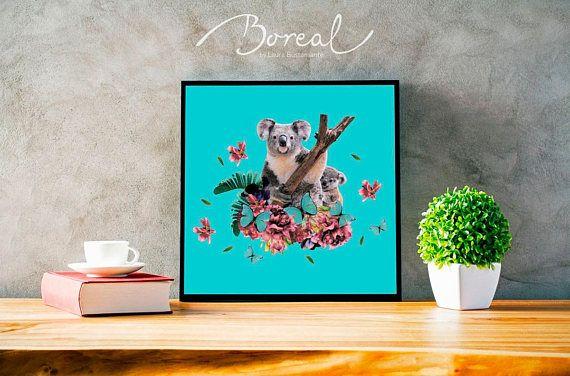 Koala Collage Print Animal decoration Home deco wall deco
