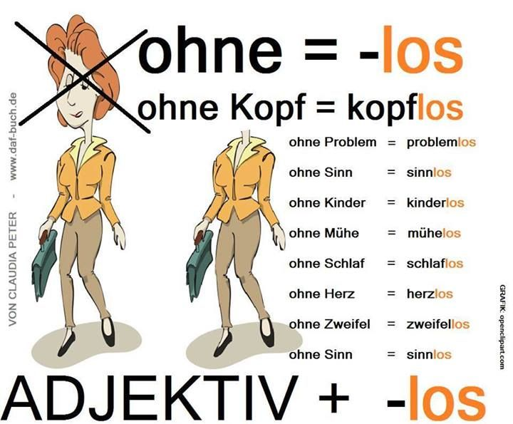 -los! How to say what a thing is lacking in #German.