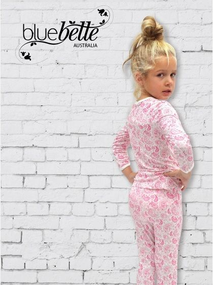 When the weather gets a little chilly, you want to know your little ones have the comfiest pyjamas to wear every night. We love our new Bamboo Snug Fit Girls' Pyjama Set in Berry Paisley!
