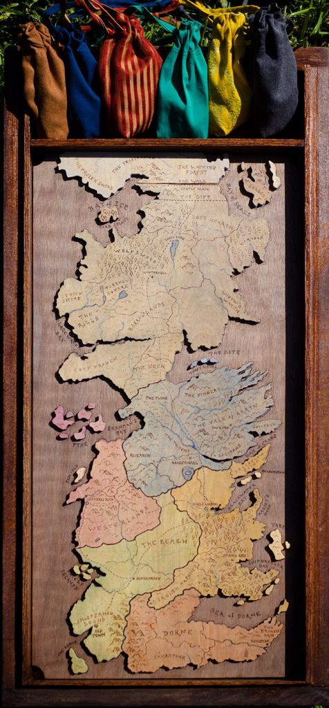 I Can't Process The Awesome That Is Handmade Game of Thrones Risk