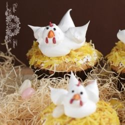 Easter chick cupcakes  (in Polish, translator in the sidebar)