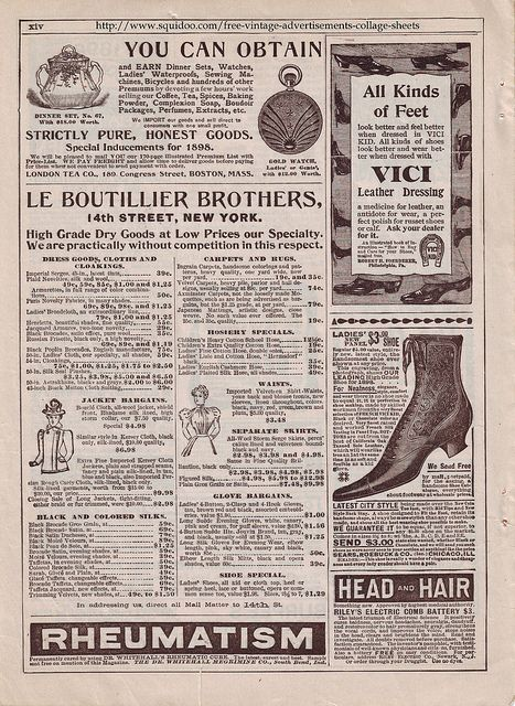 Free Printable Collage Sheet, Vintage Ads by Betsi Goutal, via Flickr
