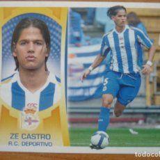 ESTE 2009 2010 PANINI Nº 6 A ZE CASTRO (DEPORTIVO CORUÑA) - SIN PEGAR - CROMO FUTBOL LIGA 09 10
