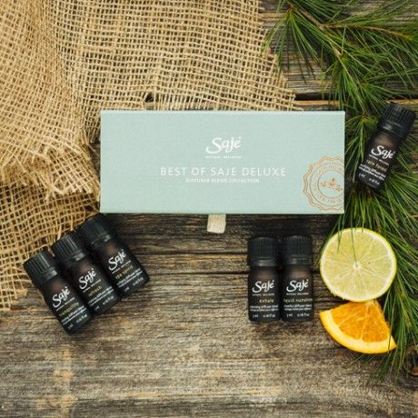 Saje - Essential Oil Blend Kits .... Also: Mountain Rose Herbs - Pure Essential Oils (Oregon) https://www.mountainroseherbs.com/catalog/aromatherapy/essential-oils