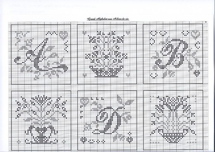 alphabet cross stitch with flowers