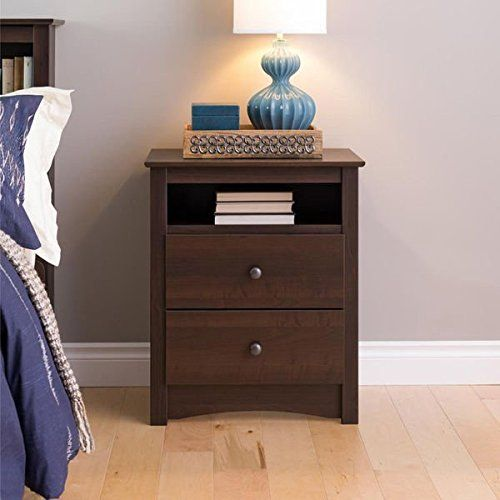 Kids' Nightstands - Sonoma Ellsworth EasytoAssemble Contemporary Espresso Tall 2drawer Night Stand >>> Check out the image by visiting the link.