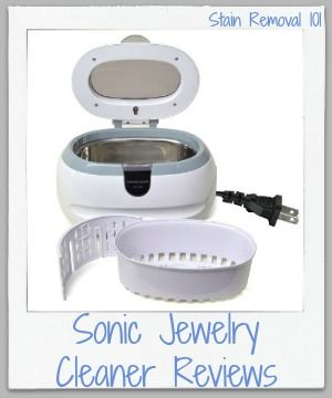 Sonic jewelry cleaner reviews {on Stain Removal 101}