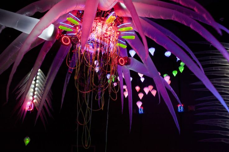 """""""Reusable Universes: Shih Chieh Huang"""" at the Worcester Museum, installation view. Courtesy of Shih Chieh Huang."""