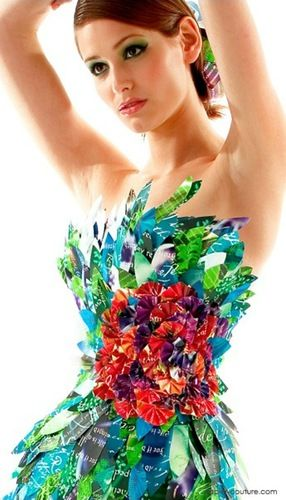 Фантастические бумажные платья Лии Гриффит