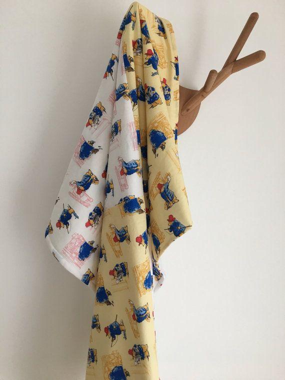 Paddington Bear Baby Blanket  backed with soft cuddly nursery