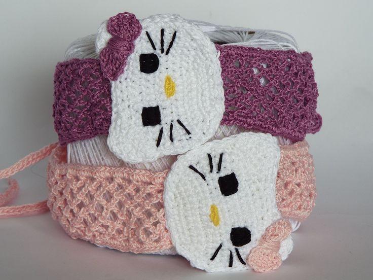 Fascia per Capelli all'Uncinetto di Hello Kitty