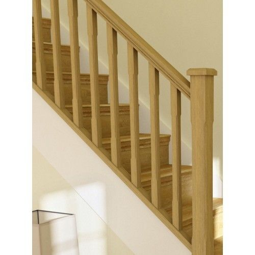 oak stop chamfer stair spindles find this pin and more on spindle and handrail designs