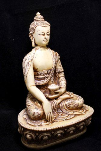 "Hand Carved Meditating Lord Buddha Resin Idol Sculpture Statue Size 7.5""x4.5"" Krishna Mart India http://www.amazon.com/dp/B00CZ6ZH96/ref=cm_sw_r_pi_dp_HY.xwb1FQ13Y1"