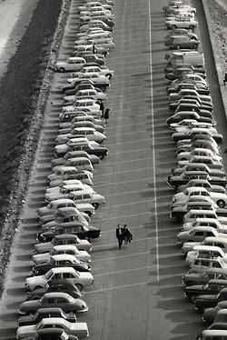 Mont Saint-Michel, Parking, 1965