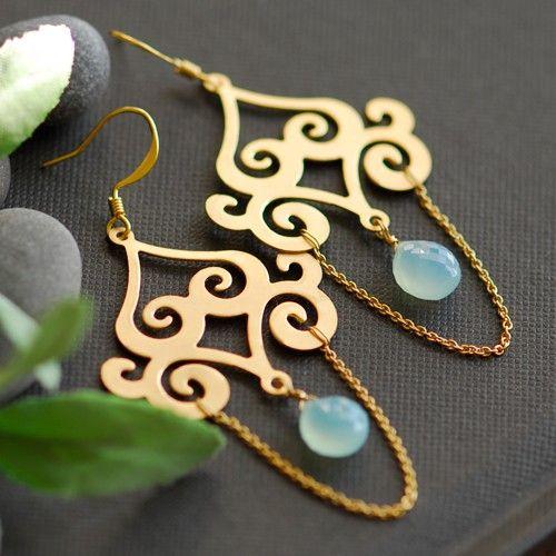 Persian Jewelry Earrings | Persian earrings by joojooland on Etsy
