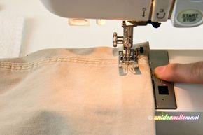 Tutorial con foto e spiegazioni per imparare a fare un orlo ai pantaloni con la macchina da cucire e senza imbastire. Per pantaloni sportivi, jeans e altro.
